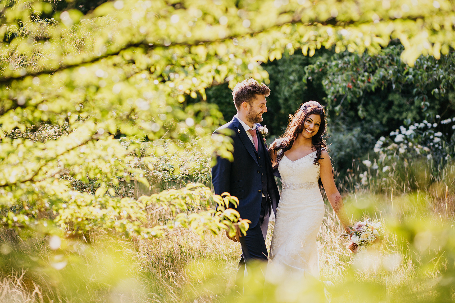 newby hall wedding photos