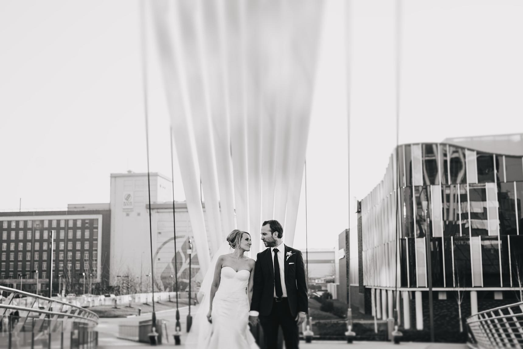 Media City wedding photos