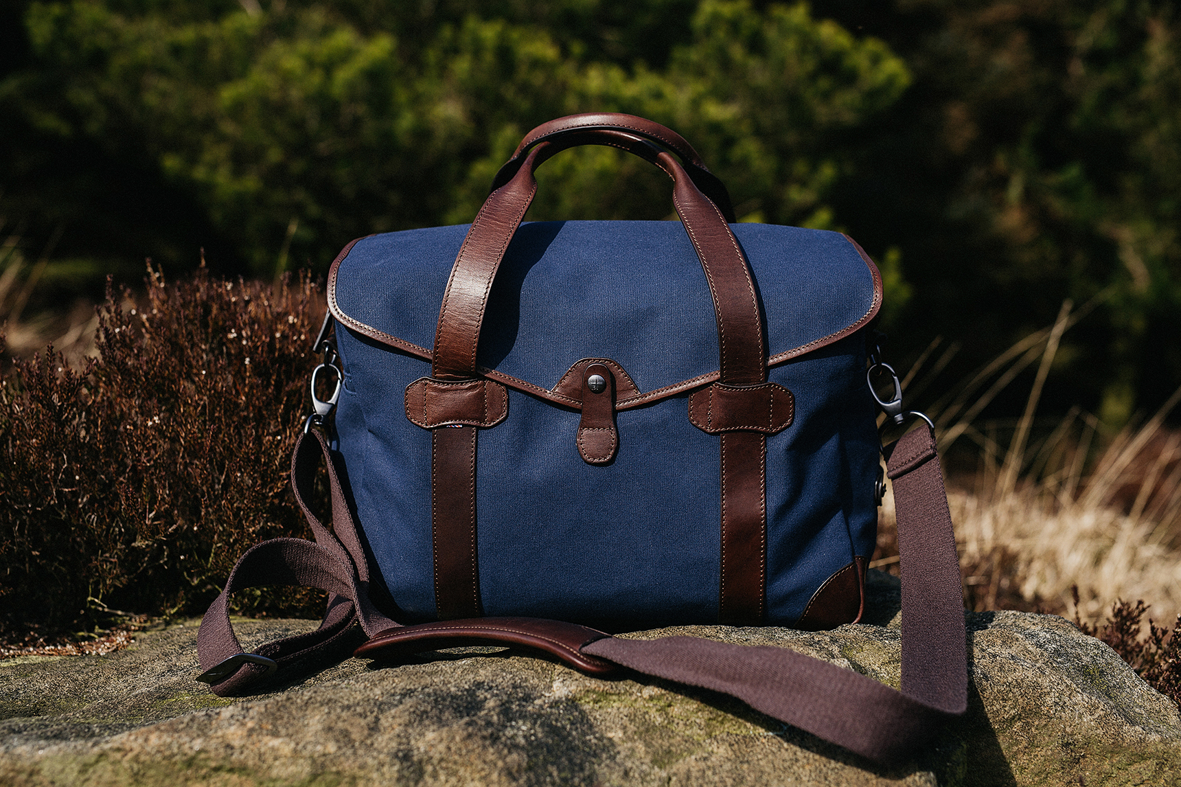 leather canvas camera bag