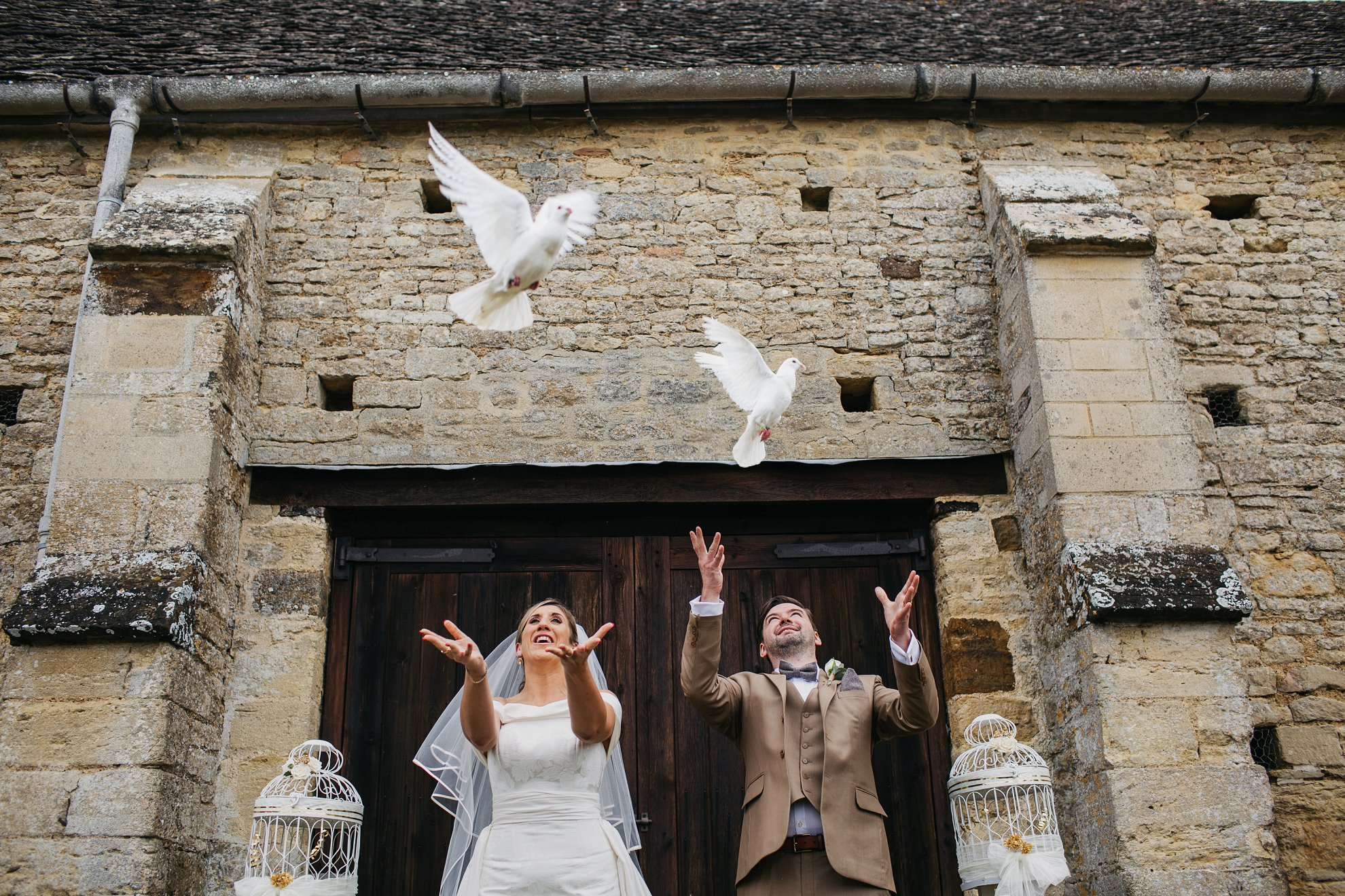 doves at a wedding