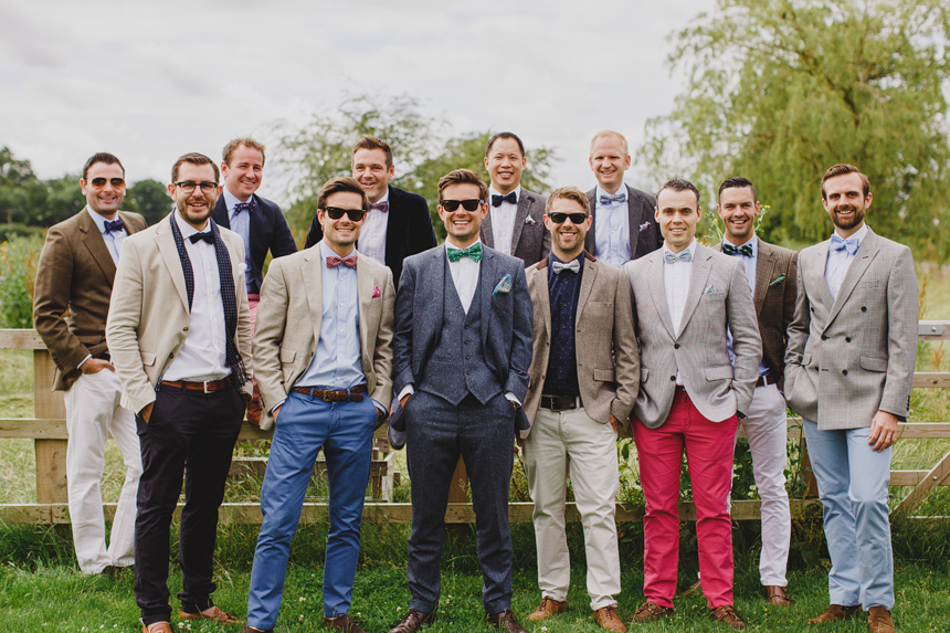Bromsgrove wedding photographer groomsmen bow ties