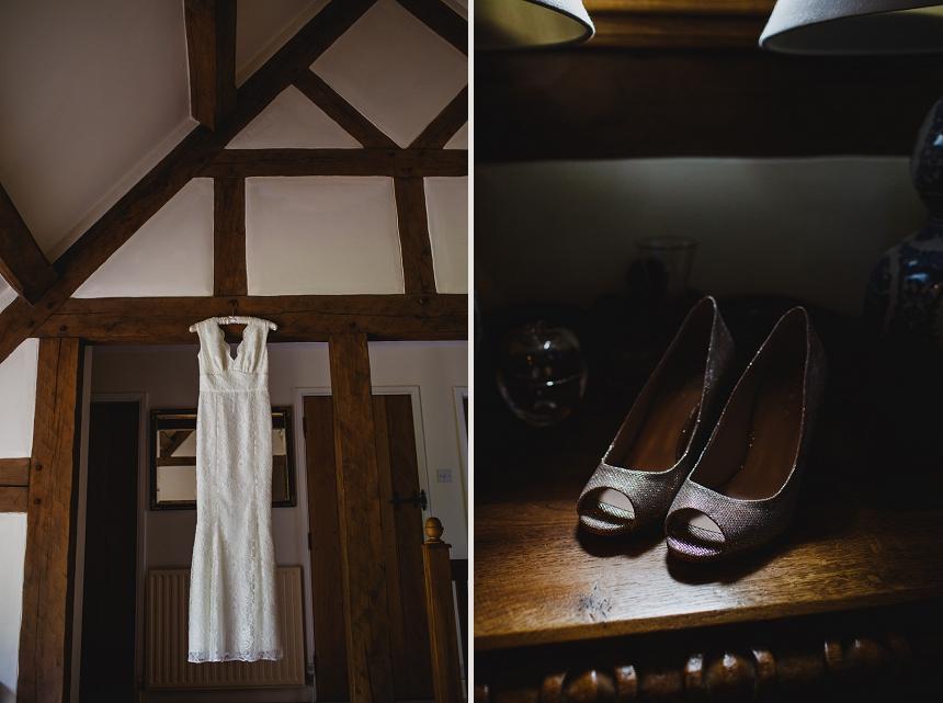 Bromsgrove wedding photographer bridal dress shoes