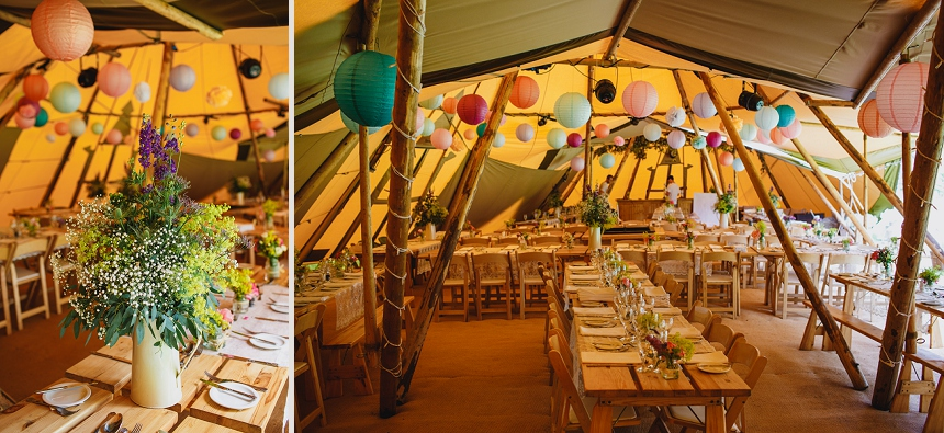 Worcester wedding photographer dancefloor tepee tipi