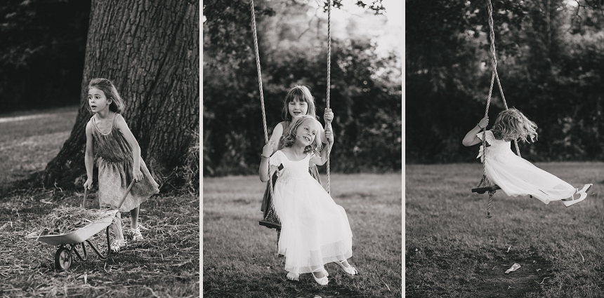 West Midlands wedding photographer swings children
