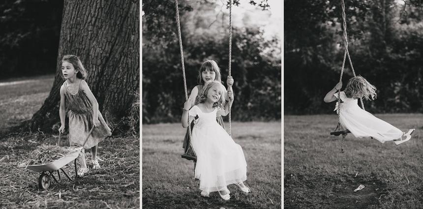 West Midlands wedding photographer swings children