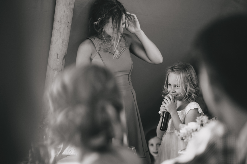 West Midlands wedding photographer flower girl speech