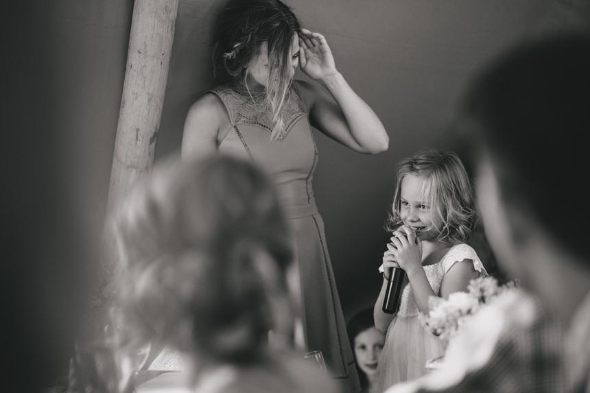 West Midlands wedding photographer flower girl speech