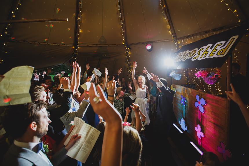 Solihull wedding photographer dancefloor tepee tipi