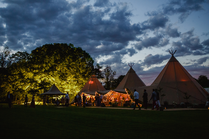 Worcester wedding photographer dancefloor tepee tipi