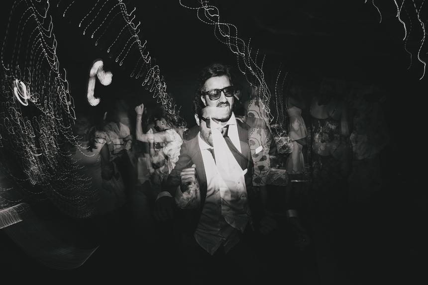 Bromsgrove wedding photographer dancefloor light trails
