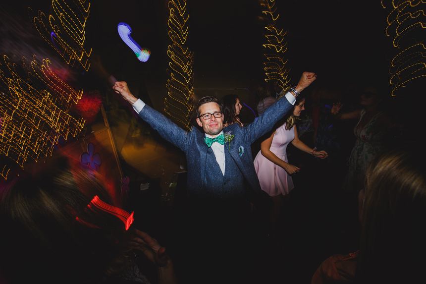 Bromsgrove wedding photographer dancefloor light trails