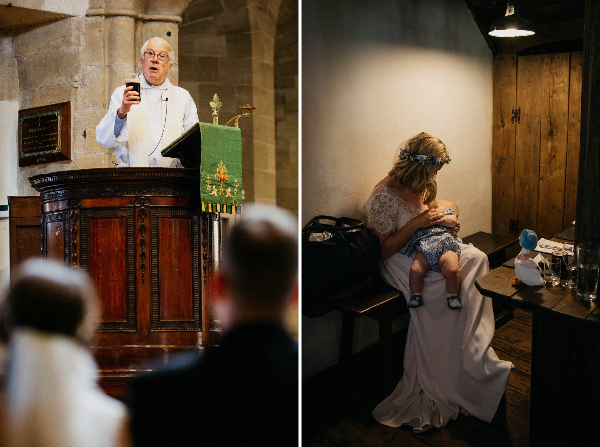 breast feeding bride