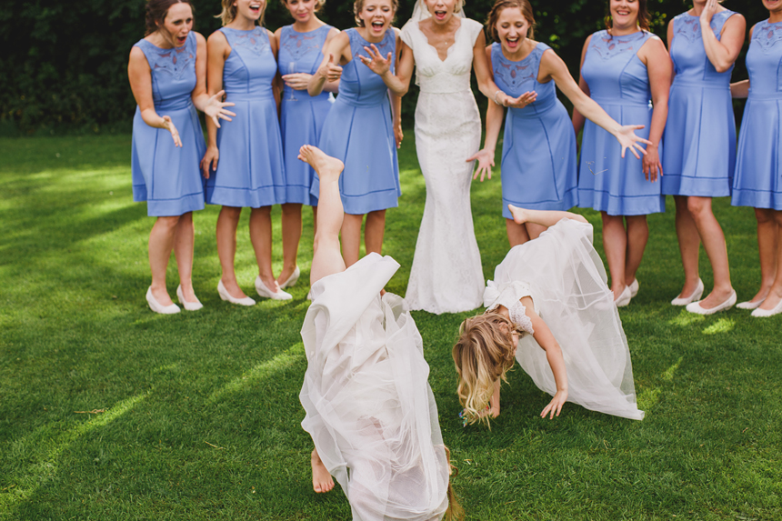 bridesmaid dresses blue